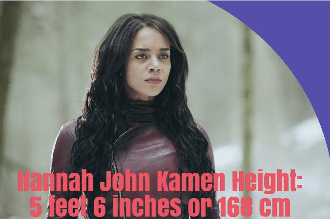 Hannah John Kamen height