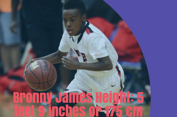 bronny james height